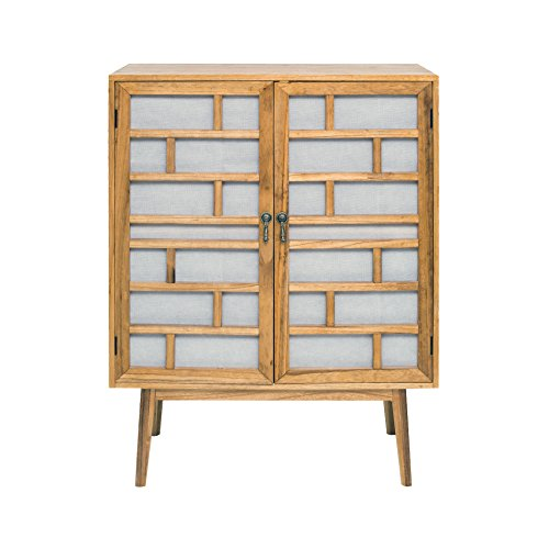 Rebecca Mobili Aparador, Muebles salón, 2 Puertas, Madera, Blanco marrón, Moderno - Medidas: 120 x 90 x 45 cm (AxANxF) - Art. RE4806