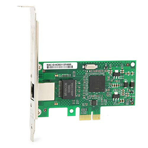 Vbestlife Tarjeta de Red Gigabit, Tarjeta de Red PCI-E Adaptador LAN RJ45, Transmisión de Alta Velocidad de 10/100/1000 Mbps, para Escritorio Externo