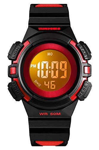 Kinder Uhr Mädchen Kinderuhr Junge Armbanduhr Digital Wecker Sport Outdoor 5 ATM Wasserdicht Datum EL Licht Armbanduhren Kinder Uhren für Jungen