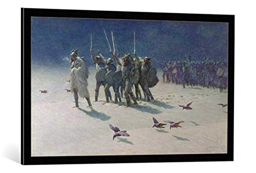 Kunst für Alle Cuadro con Marco: John Charles Dollman The Ravager - Impresión artística Decorativa con Marco, 100x60 cm, Negro/Canto Gris