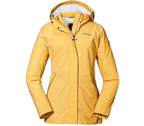 Schöffel Damen Jacket Eastleigh L, winddichte, atmungsaktive Regenjacke, urbane Outdoor Jacke, Wanderjacke mit abnehmbarer Kapuze