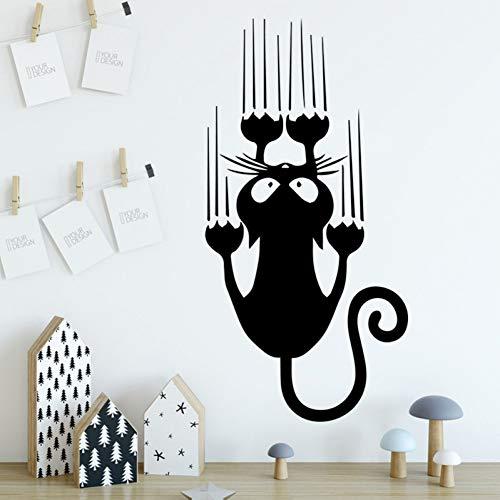 Bande dessinée Crazy Cat Vinyle Stickers Muraux Pour Enfants Chambre Décoration Accessoires Stickers Muraux Art Décoration Murale Autocollants Mural