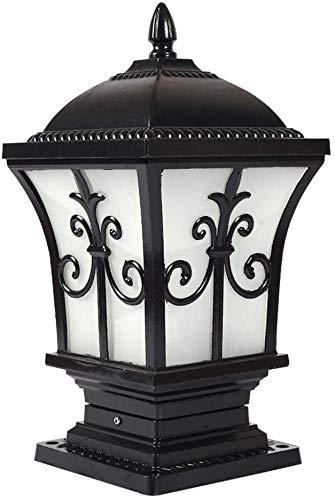 Mooie decoratieve lampen Vintage E27 buitenlamp buitenlamp lamp zwart aluminium glas voet lamp tuinlamp waterdicht IP44 voordeur balkon patio Pos