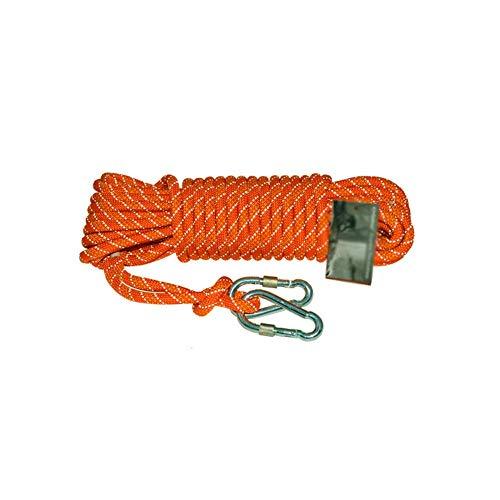 BD.Y Corde auxiliaire d'escalade, 8 mm Orange - 10 m / 20 m / 30 m / 50 m / 100 m Ferme Doux Facile à Nouer Pratique Confortable (Taille: 100 m)