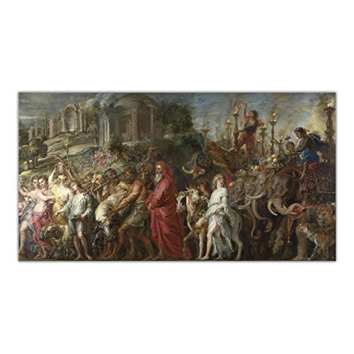 ZQXXX Peter Paul Rubens 《Un triunfo romano》 Lienzo Arte de la pared Pintura Obra de arte Póster Imagen Decoración del hogar -50x100cm Sin marco
