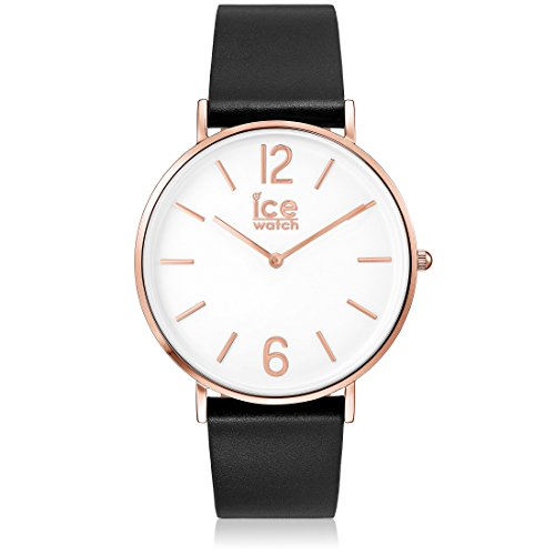 Ice-Watch - CITY tanner Black Rose-Gold - Men's (Unisex) wristwatch with leather strap - 001515 (Medium)