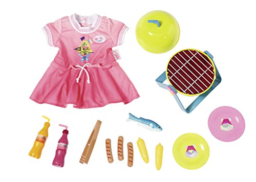 BABY Born 824733 Play&Fun Grillspass Set, bunt