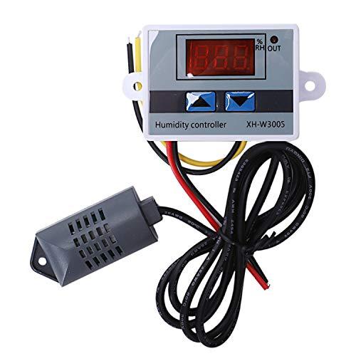 Bayda Controlador Digital De Humedad Higrometro Interruptor De Control De Humedad 0~99% Rh Hygrostat Con Sensor De Humedad Dc12V