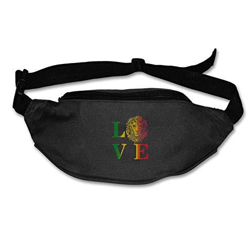 Tvox8x Rasta Lion Jamaican Reggae Love - Riñonera resistente al agua para hombres y mujeres