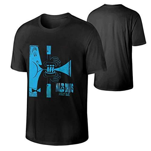 マン・マイルス・デイビス・カインド・オブ・ブルーの音楽バンド通気性コットンTシャツギフト2XL