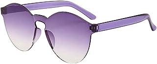 6526980fdb VJGOAL Moda para mujer Gafas de sol sin marco al aire libre Transparente  Dulces colores Gafas