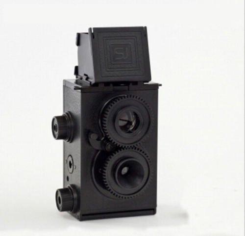 Genuine Recesky Retro DIY Twin Lens Reflex Black TLR 35mm Holga Lomo Camera Kit Minimovie TLR Camera Kit (68 Pieces Kit,Uses 35mm 24 Exposure B&W or Color Film)