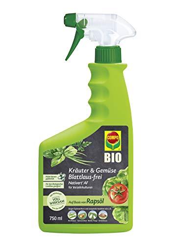 COMPO Kräuter & Gemüse Blattlaus-frei Nativert AF, Bekämpfung von saugenden Insekten an Kräutern und Gemüse, 750 ml