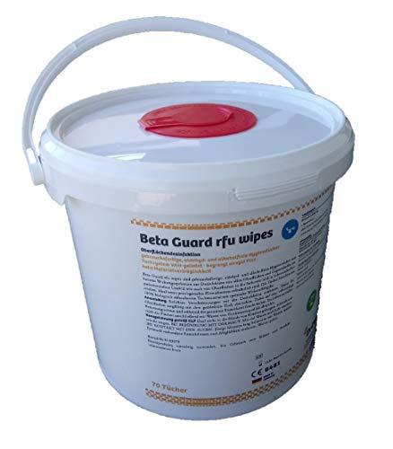 Beta Guard RFU Bio-Wipes, 1x 70 Flächendesinfektionstücher im Spendereimer (Eimer)