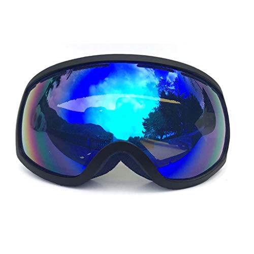 CNMGB Myopie Skibrille Doppelschicht Anti-Fog Skibrillen Männer und Frauen Brille Brille Klettern,Blau