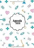 Agenda 2020: Tema Enfermera Medicina Agenda Mensual y Semanal + Organizador Diario I Planificador Semana Vista A4