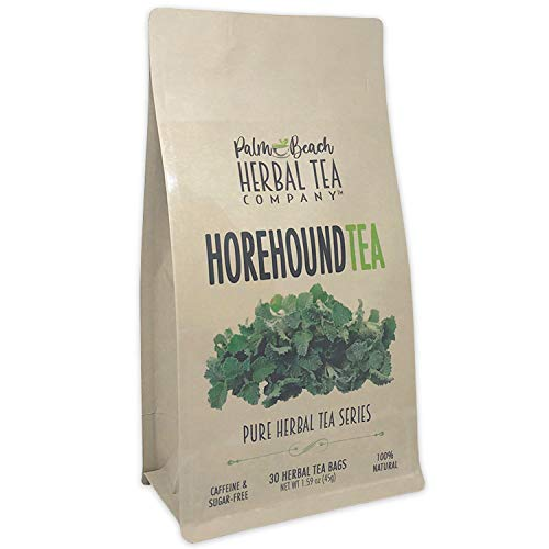 Horehound Tea - Pure Herbal Tea Series by Palm Beach Herbal Tea Company (30 Tea Bags) 100% Natural