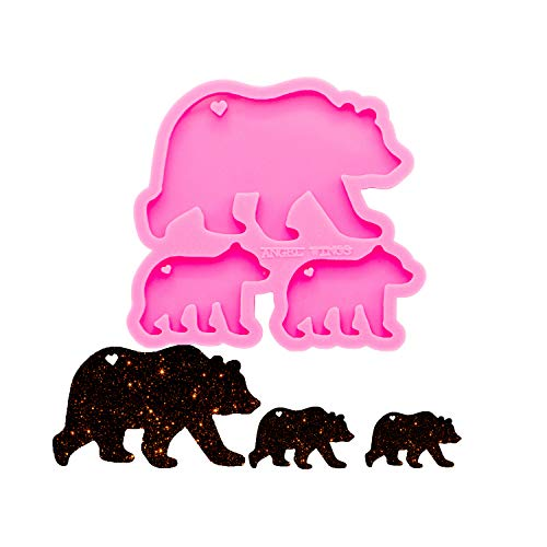 Angel Wings Super Glossy Bear Family Mold Mother and Baby Silicone Molds DIY...