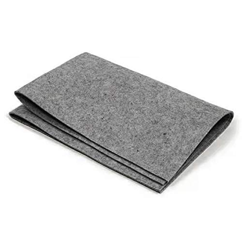 MEGREZ Chinese Calligraphy Drawing Felt Mat, Sumi Xuan Paper Painting Felt Desk Pad for Practice Chinese Japanese Calligraphy Brush Paintings Writing, Gray, Small - 19.68 x 27.55 inch (50 x 70 cm)
