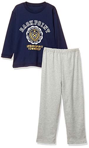[セシール] パジャマ キッズTタイプ 男児 上下セット ルームウェア NC-841 ネイビー 日本 150 (日本サイズ150 相当)