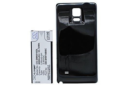 CS-SMN916DL Batería 6000mAh Compatible con [Samsung] Galaxy Note 4 (China Mobile), SM-N9100, SM-N9106W, SM-N9109W, SM-N910F sustituye EB-BN916BBC