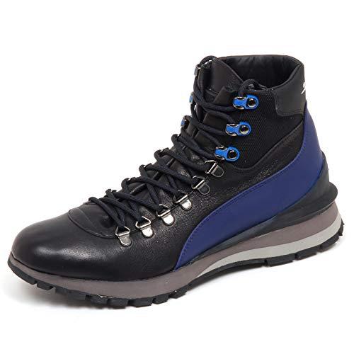 VOILE BLANCHE F4526 Sneaker Uomo Black/Blu Crest Scarpe Vintage Effect Shoe Man [40]