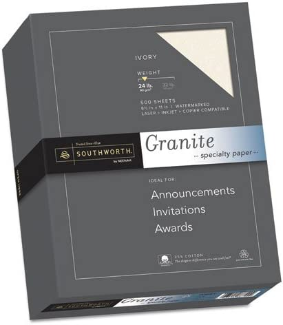 Granite Specialty Paper Ivory 24lb 8 1 25% 11 50 55% OFF x High order Cotton 2