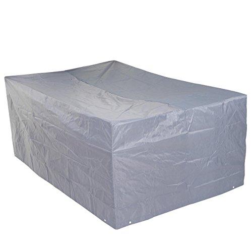 Mendler Housse de Protection pour Garniture de Jardin, Gaine de Protection, Gris - 75x255x120cm