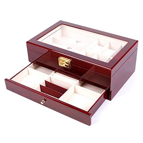 YUTRD ZCJUX Caja de Almacenamiento - Bicarbonato de Pintura de Alta Gama de joyería Caja de Reloj de Punto Simple Reloj de Almacenamiento de Caja de Madera