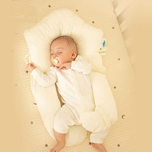 almohada plagiocefalia,cojin mimos,cojin infantil,suave,Baby Pillow Head Shaping Pillow Bedding Set: evita la cabeza plana, altura lateral ajustable, alivia el reflejo de sobresalto