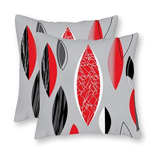 happygoluck1y Atomic 1950S Mid Century - Fundas de cojín (18 x 18/45 x 45 cm, juego de 2 fundas decorativas para casa de campo para sofá o sofá divertido regalos 2020