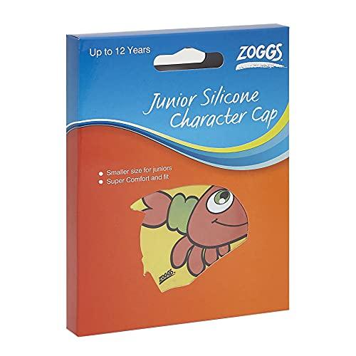 Zoggs Kids Silicone Character Swimming Cap, Yellow Crab, Junior