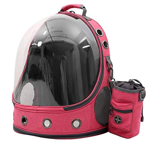 WWWL Pet backpack Large Capacity Portable Pet Carrier Backpack Transparent Space Capsule Travel Dog Cat Puppy Carrier Bag Outdoor Use for Travel HP