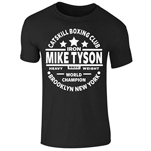 Men's Iron Mike Tyson Catskill Boxing Club Heavyweight Champ Short Sleeve T Shirt UK Size S-XXL (Large) Black