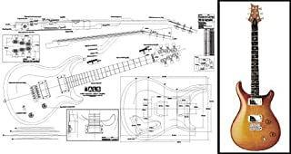 Plan of PRS McCarty Electric Guitar - Full Scale Print