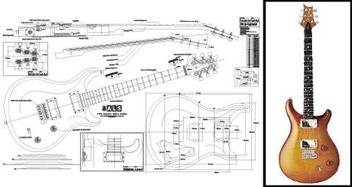 Plan de PRS McCarty guitarra eléctrica–escala completa impresión