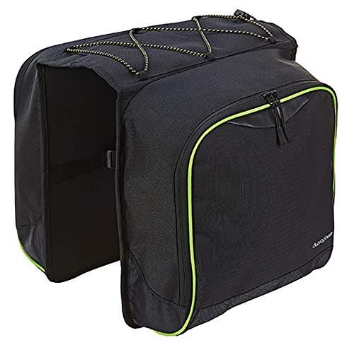 Prophete Doppel-Packtasche Schwarz mit Regenüberzug in Signalfarbe, 602