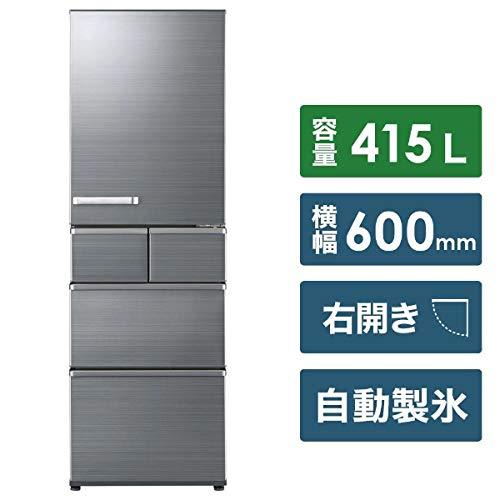 AQUA 【右開き】415L 5ドアノンフロン冷蔵庫 チタニウムシルバー AQR-SV42H(S)
