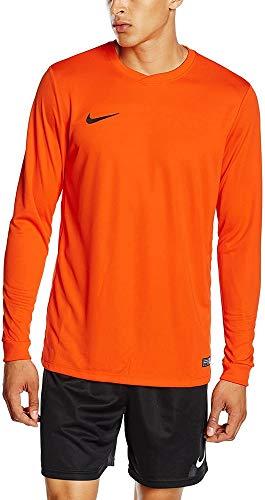 Nike LS Park Vi JSY Camiseta de Manga Larga, Hombre, Naranja (Safety Orange/Black), M