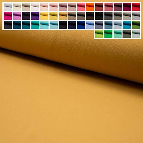 Jersey Stoff Uni Oeko-Tex Meterware ab 25 cm - einfarbiger Jersey in vielen Farben (21. Gold Senf)