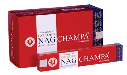 Incienso Golden Nag Champa 15g agabrathi vija yshree Fragrance 1er, 3, 6, 12, rojo