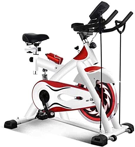 Bicicleta de spinning para entrenamiento aeróbico de fitness, aeróbica, bicicleta de ejercicio de interior, bicicleta estática fija vertical adecuada para el hogar, gimnasio, aeróbico