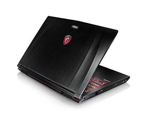 MSI GE62VR-6RFAC16H21 39,6cm (15,6 Zoll) Full HD Laptop (Intel Core i7-6700HQ, 16 GB RAM, 256 GB SSD + 1 TB HDD, NVIDIA GeForce GTX1060, Windows 10 Home) schwarz GE62