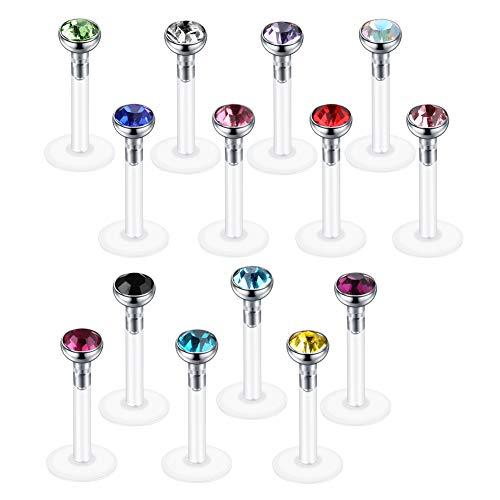 7X//Set Glow In The Dark Ball Barbell Eyebrow Rings Bar Tragus Piercing Jewel TI