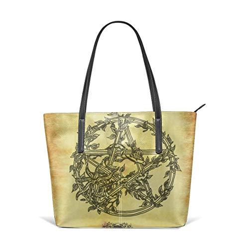 Wicca Imbolc St Saint Brigid Celtic Men Women Leather Tote Bags Satchel Top Handle Cross Body Shoulder Hobo Handbags For Ladies Shopping Bag Office Briefcase