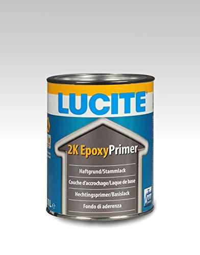 Lucite Wasserbasierter 2K-EpoxyPrimer Basislack Haftgrund/Stammlack Innen- und Außenbereich 1 Liter
