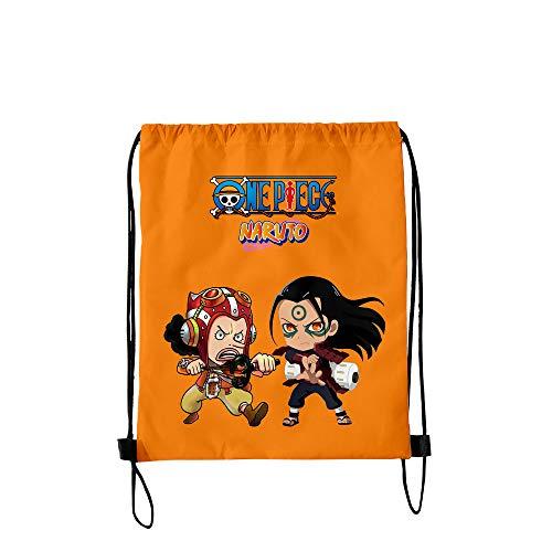 NCTCITY Mochila con Cordón Anime One Piece Naruto Impresión 3D Bolsa de Regalo Mercancía Bolsa para Computadora Portátil Mochila de Viaje Escuela Bolsas de Lona