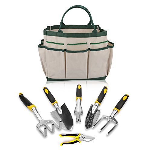 7 piezas Juego de herramientas de jardinería herramientas ergonómicas...
