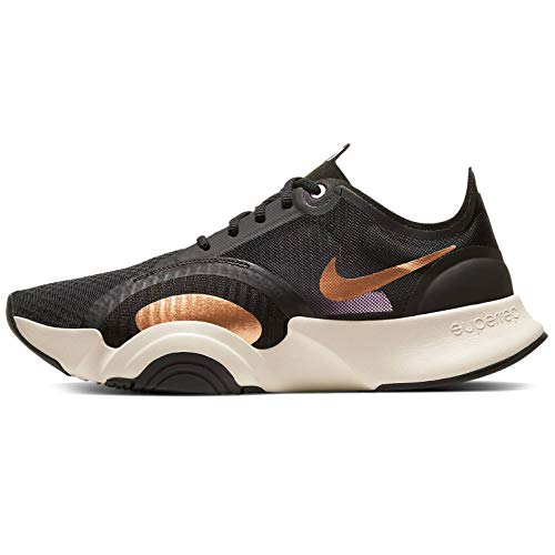 Nike Superrep Go Sports Shoes Women Black/Gold - 9.5 - Fitness/Training