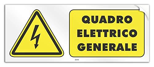 Cartel 30 x 12 cm - Cuadro eléctrico general